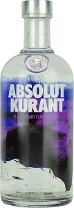 Personalised Absolut Kurant Vodka 70cl engraved bottle