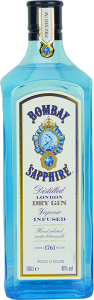 Personalised Bombay Sapphire Gin 100cl engraved bottle