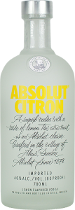 Personalised Absolut Citron Vodka 70cl engraved bottle