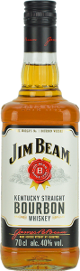 Personalised Jim Beam White Label 70cl engraved bottle