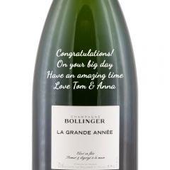 Personalised Bollinger La Grande Annee Vintage