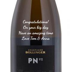 Personalised Bollinger PN VZ Champagne