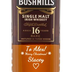 Personalised Bushmills 16 Year Old