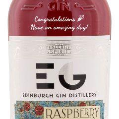 Personalised Edinburgh Raspberry Gin Liqueur