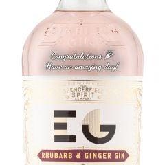 Personalised Edinburgh Rhubarb & Ginger Gin
