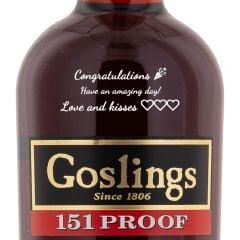 Personalised Goslings Black Seal 151 Proof