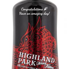 Personalised Highland Park 16 Year Old Twisted Tattoo