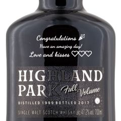 Personalised Highland Park Full Volume