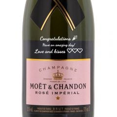 Personalised Moet & Chandon Rose Imperial NV 35.5cl
