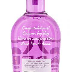 Personalised Aber Falls Violet Liqueur