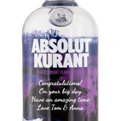 Personalised Absolut Kurant Vodka