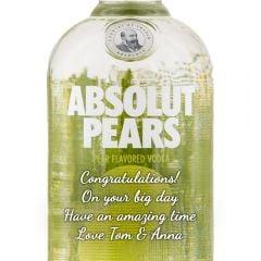 Personalised Absolut Pears Vodka