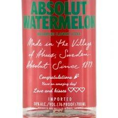 Personalised Absolut Watermelon Vodka