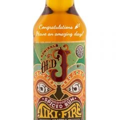 Personalised Admiral Vernons Old J Spiced Tiki Fire Rum
