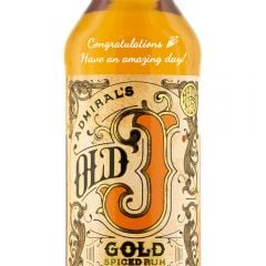 Personalised Admirals Vernons Old J Gold Spiced Rum