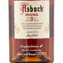 Personalised Asbach Original 3 Year Old