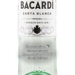 Personalised Bacardi Carta Blanca