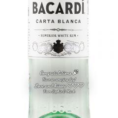 Personalised Bacardi Carta Blanca 1 Litre