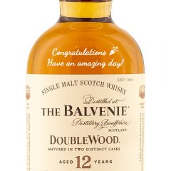 Personalised Balvenie Double Wood 12 Year Old 20cl