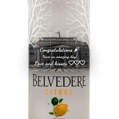 Personalised Belvedere Citrus Vodka