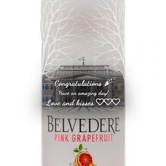 Personalised Belvedere Pink Grapefruit Vodka
