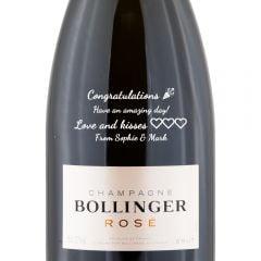 Personalised Bollinger Rose Non Vintage Magnum 150cl