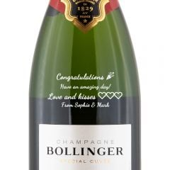 Personalised Bollinger Special Cuvee Champagne 35.5cl