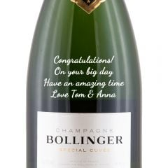 Personalised Bollinger Special Cuvee Champagne