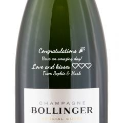 Personalised Bollinger Special Cuvee Magnum Champagne 150cl