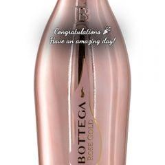 Personalised Bottega Rose Gold Magnum Prosecco