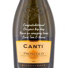 Personalised Canti Prosecco