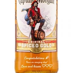 Personalised Captain Morgan Spiced Gold Rum 1 Litre