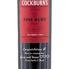 Personalised Cockburns Fine Ruby Port