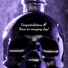 Personalised Crystal Head Onyx Vodka