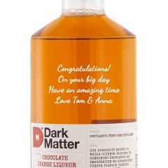Personalised Dark Matter Chocolate Orange Liqueur