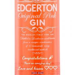 Personalised Edgerton Original Pink Gin