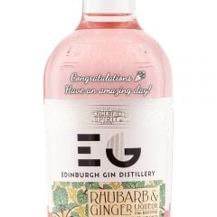 Personalised Edinburgh Rhubarb and Ginger Gin