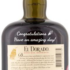 Personalised El Dorado Rum 15 Year Old