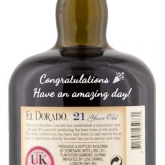 Personalised El Dorado Rum 21 Year Old