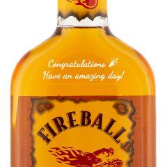 Personalised Fireball Cinnamon Liqueur