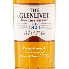 Personalised Glenlivet Founders Reserve