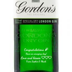 Personalised Gordons London Dry Gin 1 Litre
