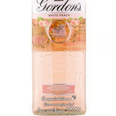 Personalised Gordons White Peach