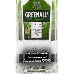 Personalised Greenall's London Dry Gin