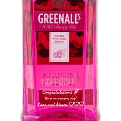 Personalised Greenalls Wild Berry Gin