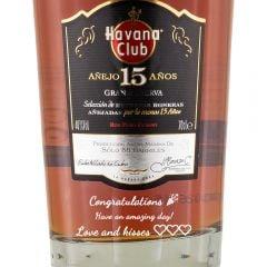 Personalised Havana Club 15 Year Old
