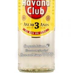 Personalised Havana Club 3 Year Old White Rum