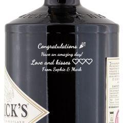 Personalised Hendricks Gin
