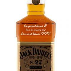 Personalised Jack Daniels No. 27 Gold