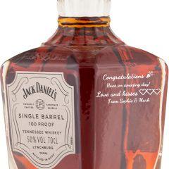Personalised Jack Daniels Single Barrel 100% Proof